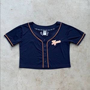 Women's PINK Cropped Tigers Jersey